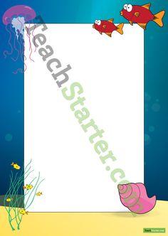 Underwater Page Border | Teach Starter - Teaching Resources