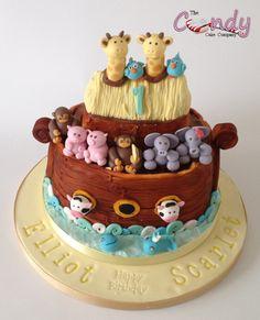 Noah's ark cake 1st birthday www.thecandycakecompany