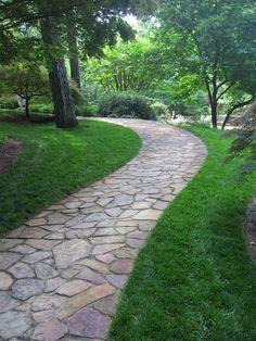 25 Incredible DIY Garden Pathway Ideas You Can Build Yourself To Beautify Your Backyard Backyard Walkway, Outdoor Walkway, Front Yard Landscaping, Walkway Ideas, Landscaping Ideas, Path Ideas, Backyard Ideas, Walkway Designs, Concrete Backyard