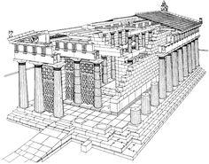 Reconstruction of the Temple of Aphaea of Aigina.
