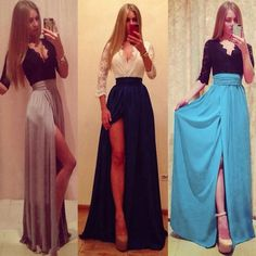 New Sexy Long Chiffon Bridesmaid Formal Gown Party Cocktail Evening Prom Dresses #Unbranded #BallGown #Casual