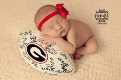 Inspiration For New Born Baby Photography : newborn girl football