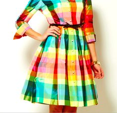 Philanthropic apparel designer Sara Campbell creates timeless silhouettes for women. Based in Boston, the collection is made in the USA. Boston Shopping, Plaid Dress, Summer 2015, Tartan, Dresses For Work, Color, Collection, Design, Women