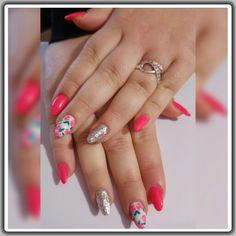fucsia (fluo passion) argento glitter bianco rose