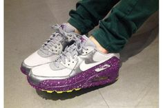 2015 Nike Air Max 90 Star Series Silver Purple Green Couple Style Mujer Running Zapatos Cheap Online