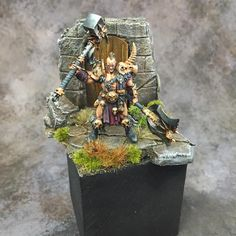 Age of Sigmar | Silver Tower | Darkoath Chieftain Conversion on Scenic Base #warhammer #ageofsigmar #aos #sigmar #wh #whfb #gw #gamesworkshop #wellofeternity #miniatures #wargaming #hobby #fantasy