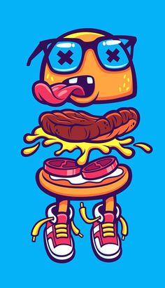 Burger Bits by cronobreaker #vector #art #illustration: