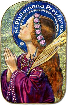 St. Philomena, Patroness and Protectress of the Living Rosary, pray for us...