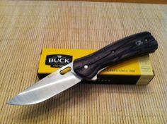 Buck Vantage Select Knife Charcoal Dymondwood Handles Folding Folder BU 345GYSWM