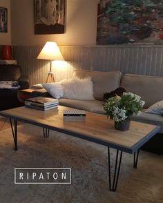 Atelier Ripaton - Hairpin Legs - www.ripaton.fr - La petite table d'appoint en marbre fabriquée par @mariekke_fr avec nos pieds !  #diy #piedsdetable #hairpinlegs #doityourself #inspiration #deco #home #faitmain #interieur #creation