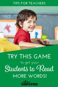 A trick to get students to read more words? Yes, please! This game teaches Advanced Phonics sound AND high-frequency sight words simultaneously. #teachertips #strugglingreaders Small Group Reading, Student Reading, Teaching Reading, Guided Reading, Teaching Strategies, Teaching Resources, Teaching Ideas, Reading Incentives, Learning Phonics
