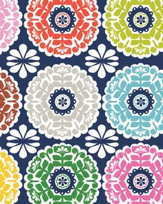 """""""Maude asburyslatestcollection for blend fabrics (...) Maude asburyis a brand that was created by joe spiegelberg (also of blend fabrics)in 1988 in california and works with variousdesigners and manufacturers."""" Via Print and Pattern."""