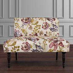 angelo:HOME Bradstreet Settee Upholstered Loveseat in Purple