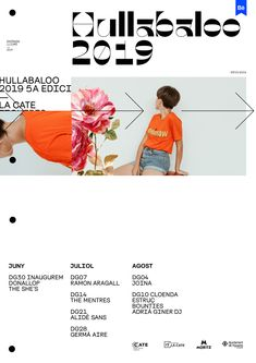 """Check out this project: """"Hullabaloo Festi. Website Design Layout, Book Design Layout, Print Layout, Website Design Inspiration, Graphic Design Inspiration, Graphic Design Posters, Modern Graphic Design, Graphic Design Typography, Typography Layout"""