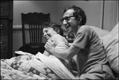On the set of Annie Hall by Woody Allen