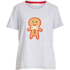 Gingerbread Tee ❤ liked on Polyvore featuring tops, t-shirts, scoopneck top, pattern t shirt, patterned tees, scoop-neck tees and scoop neck top