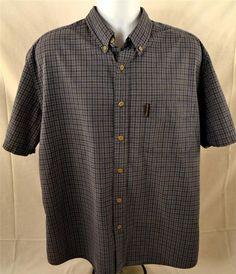 Abercronbie & Fitch Mens Size Large Short Sleeve 100% Cotton Casual Wear Shirt #AbercrombieFitch #ButtonFront