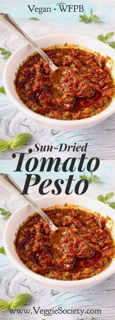 10 Most Misleading Foods That We Imagined Were Being Nutritious! Vegan Sun Dried Tomato Pesto Sauce Recipe With Wfpb Instructions - The Classic Italian Sauce Sun Dried Tomato Sauce, Dried Tomatoes, Pesto Sauce, Pesto Recipe, Tomato Recipe, Chimichurri, Vegetarian Recipes, Cooking Recipes, Mop Sauce