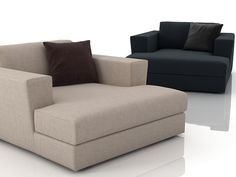 Poliform Canyon armchair 3d model | Paola Navone