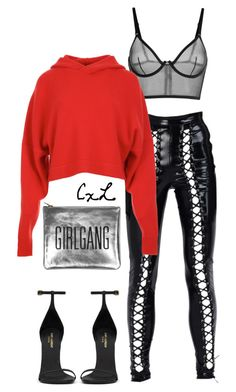 """Untitled #139"" by clynnstyle on Polyvore featuring TIBI, Sarah Baily and Yves Saint Laurent"