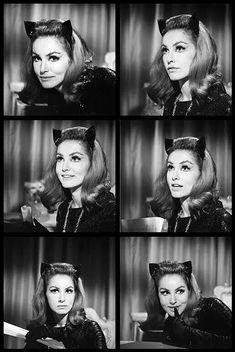 Julie Newmar as Catwoman Batman 1966, Batman And Catwoman, Batman Robin, Batgirl, Batman Tv Show, Batman Tv Series, Julie Newmar, James Gordon, Catwoman Selina Kyle
