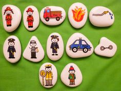 This wonderful people who help story stone collection is a perfect tool for both boys and girls to use in their creative and imaginative play they Rock Crafts, Arts And Crafts, Diy Crafts, Stone Painting, Diy Painting, Rock Painting, Craft Activities For Kids, Crafts For Kids, Literacy Activities