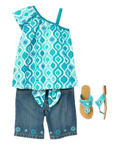 Gymboree Girl Aqua Summer Summer Glam Outfit