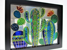 Glass Cactus, Cactus Art, Cactus Decor, Cactus Plants, Buy Cactus, Broken Glass Art, Sea Glass Art, Clear Glass, Fused Glass