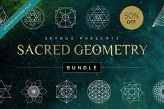 Sacred Geometry Vector Bundle by skyboxcreative on @creativemarket