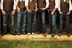country wedding groomsmen attire (the only people who could possibly be allowed to wear jeans if I were to get married haha)