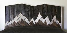 rustic headboard, rustic furniture, reclaimed wood, bedroom furniture, unique headboard, natural wood, pallet furniture, landscape, denali