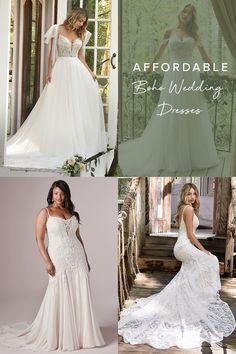 Wear the most dreamy boho wedding dress without compromising on quality or style! Click for affordable bohemian gowns by #RebeccaIngram ✨ #MaggieSottero #bohoweddingdress #affordableweddingdresses Affordable Wedding Dresses, Dream Wedding Dresses, Tulle Dress, Lace Dress, Bohemian Gown, Lace Mermaid Wedding Dress, Ball Dresses, Bridal Gowns, Beach Casual