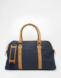 Image 1 of River Island Carryall Bag In Rubberised Navy