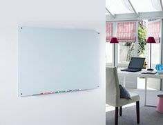 "Amazon.com : Magnetic Glass Dry-Erase Board Set - 23 5/8"" x 35 1/2"" - Includes Board, 2 Magnets, and Aluminum Marker Tray : Office Products"