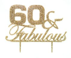 This unique 60th birthday cake topper is such a fun decoration for your cake! Great for a fun birthday celebration! The perfect combination of glitter and sophistication, this cake topper is sure to h