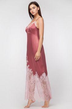 fd3b5130f2 Set with Silk Robe and Silk Nightgown Long Silk Nightgown