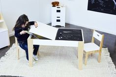 I'm sure you will agree this contemporary Benji Activity Table & 2 Chairs Set not only looks stylish but it's super practical . Kids will love using it under table top  storage compartment to store their favourite items