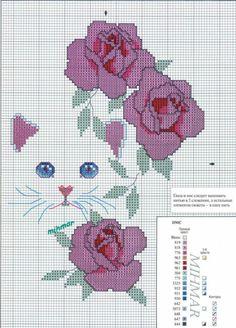 Cross Stitch Boards, Cross Stitch Heart, Cross Stitch Animals, Cross Stitch Flowers, Cat Cross Stitches, Counted Cross Stitch Patterns, Cross Stitching, Cross Stitch Embroidery, Christmas Embroidery Patterns