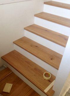 montaggio scala legno di CP Parquet, stupendo!