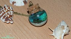 Bottled Sea.Real Seashells. Real Sand.Glass by NarwhalBlueberry