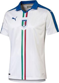 The new Italy Euro 2016 Away Jersey features a classical design. Puma makes the new Italy Euro 2016 Kits. Soccer Uniforms, Soccer Shirts, T Shirts, Football Kits, Football Jerseys, Italy Soccer, Jersey Atletico Madrid, National Football Teams, Soccer