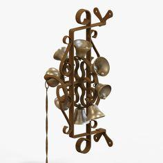 Antique Door Bells 3D Fbx - 3D Model