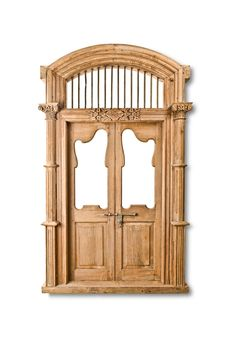 Beautiful Antique Indian Door with Frame and Arch Top with Iron Rods Indian Doors, Arched Doors, Wooden Doors, Curb Appeal, Craftsman, Iron, Barn Doors, Antiques, Frame