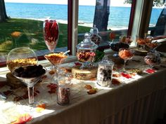 CANDY CANDY AND MORE CANDY #candybar #wedding #dessertbar #desserttable #candybarforweddings #bayshoregrove #fallthemedweddings