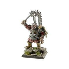 Set contains 1 resin Ogre Mercenary Lechistan Hussar Companion with scenic  base 40 x 40 mm ideal for use with 28mm scale models. It's multi-part miniature +1 alternative head and 1 alternative weapon. Supplied unpainted. This kit requires