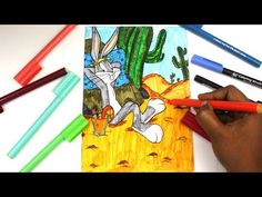 Coloring Looney Toons Bugs Bunny, Bugs Bunny Coloring Pages Kids Colouring Sheets - YouTube