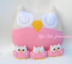 Little Owl Artesanatos Owl Fabric, Fabric Toys, Crochet Owls, Crochet Art, Felt Owls, Felt Animals, Felt Crafts, Fabric Crafts, Operation Christmas Child