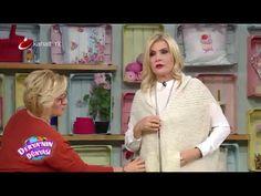 "Derya Baykal - Deryanın Dünyası - ""Kolay Şık HIRKA yapımı"" - 17.11.2014 - YouTube Knitting Videos, Crochet Videos, Knit Jacket, Knit Cardigan, Hat Patterns, Shawl, Knit Crochet, Veronica, Tejidos"