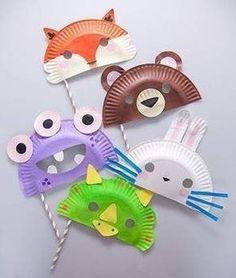 {DIY} 15 modèles de masques à réaliser avec des assiettes en carton!
