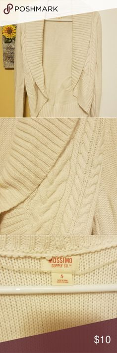 Mossimo sweater cardigan Like new. Worn maybe twice. Cream color open cardigan. Mossimo Supply Co. Sweaters Cardigans